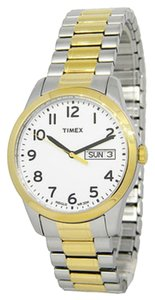 Timex Timex Male Elevated Classics Watch T2N063 Two Tone Analog