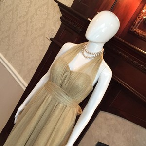 Jenny Yoo Gold See Pictures Formal/Bridesmaid Formal Bridesmaid/Mob Dress Size 6 (S)