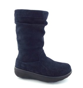 FitFlop Scrunchy Scrunch Loaff Slouchy Slouchy Navy Blue Boots