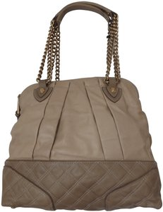 Marc Jacobs Quilted Leather Gold Hardware Cognac Calfskin Satchel in Tan