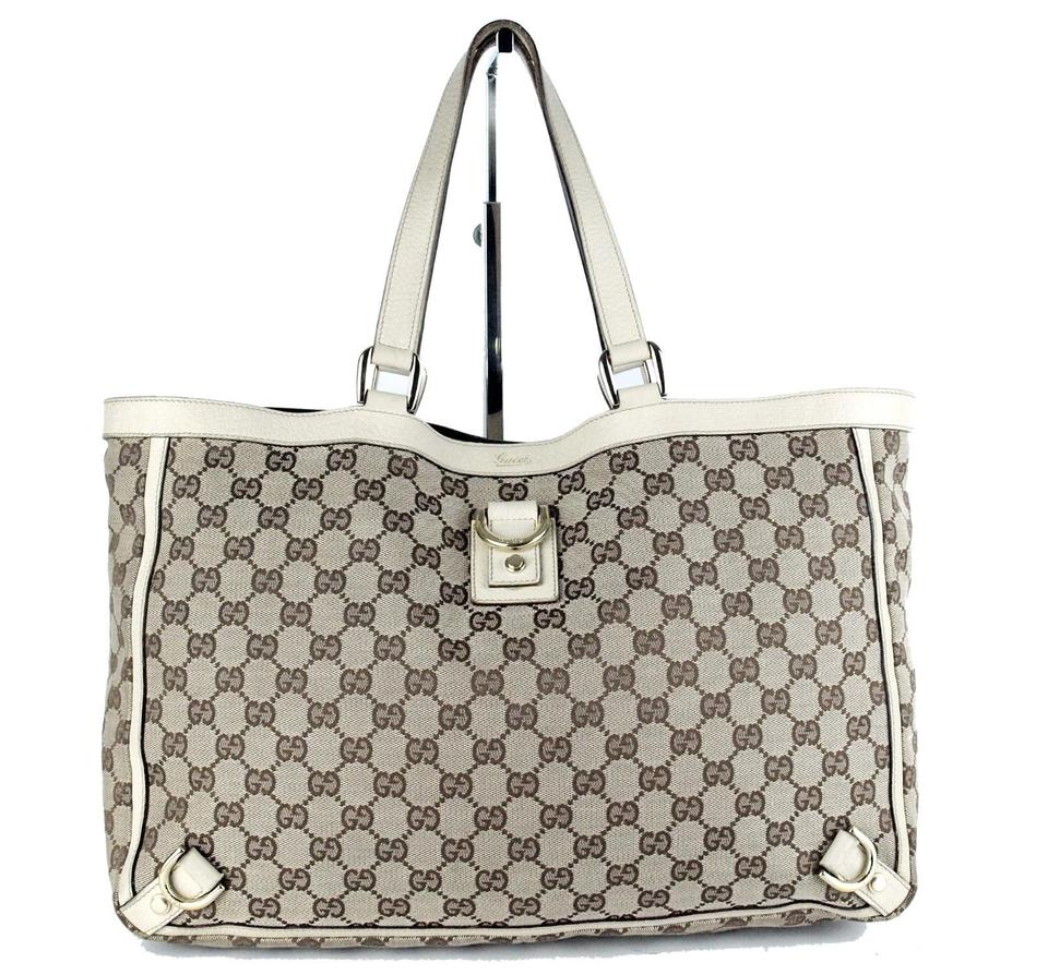 ccdd7b17062 Gucci Multi-compartment Abbey D Ring Xl Excellent Condition Tote in brown  large G logo ...