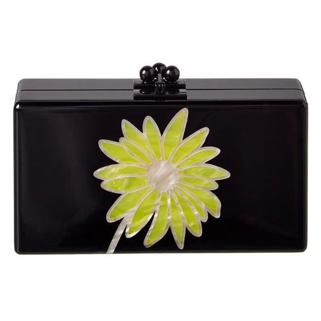 Edie Parker Daisy Black and Yellow Clutch Edie Parker Daisy Black and Yellow Clutch Image 1