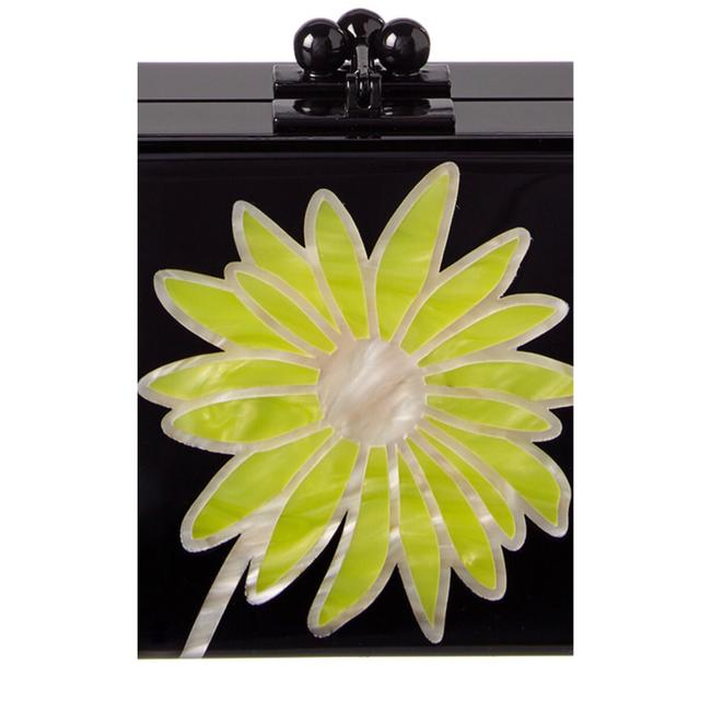 Edie Parker Daisy Black and Yellow Clutch Edie Parker Daisy Black and Yellow Clutch Image 2