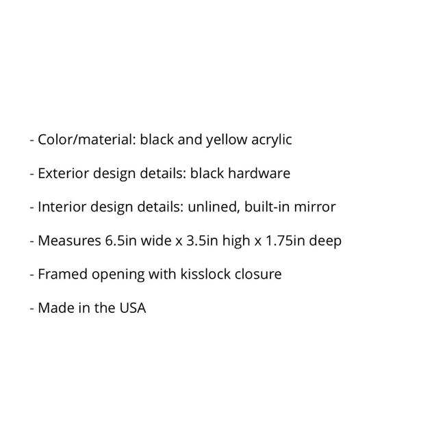 Edie Parker Daisy Black and Yellow Clutch Edie Parker Daisy Black and Yellow Clutch Image 5