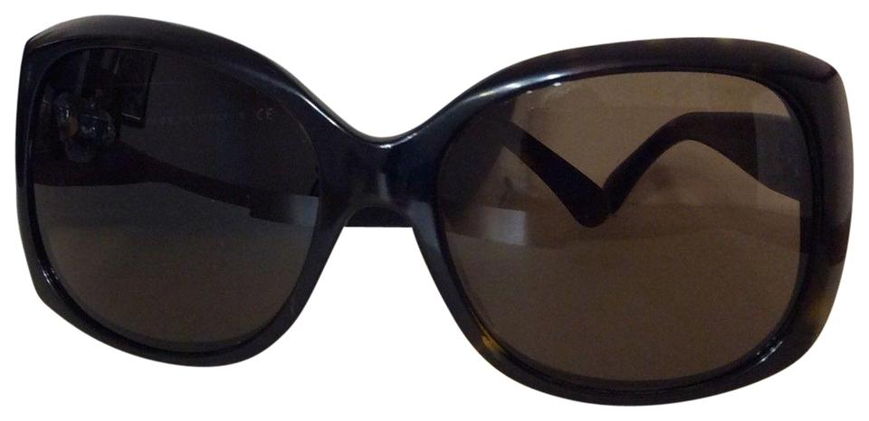 c8073a9038a Chanel Dark Brown C Mother Of Pearl Havana and Case Sunglasses - Tradesy