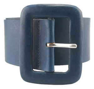 Streets Ahead Streets Ahead Blue Leather Belt, Size L (3223)