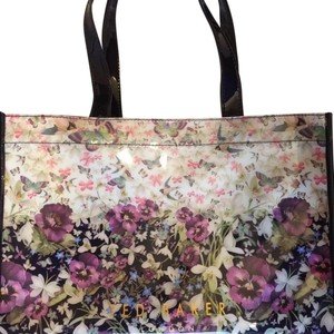 0af59f8adb1aa Ted Baker Shopper Flip Flops Floral Print Enchantment Theme Tote in Navy  Multi cheap prices c8cc8 . ...