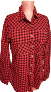 Woolrich Button Down Shirt Black and REd