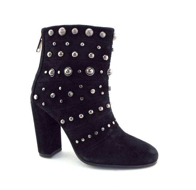 Item - Black Studded Suede Leather Heeled Ankle Boots/Booties Size US 6 Regular (M, B)