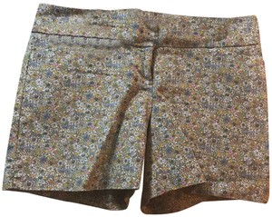 The Limited Dress Shorts mustard colored with pink, blue and white flowers