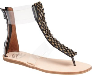 Jeffrey Campbell Crystal Embellished Clear Strap Sandals