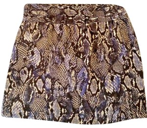 New York & Company Mini Skirt Blue snake