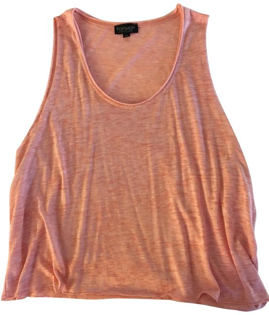 Item - Pink/Peach Muscle Tank Top/Cami Size 6 (S)