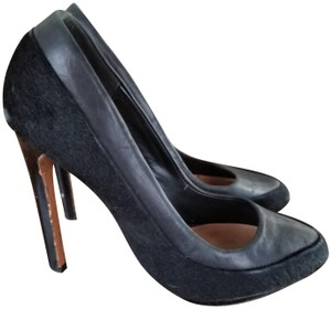Mark & James by Badgley Mischka Calf Hair Sexy Unique Day To Night Black Pumps
