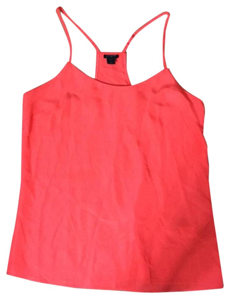 6dba946eb71640 J.Crew Hot Pink Orange Racer Back Tank Top Cami Size 6 (S) - Tradesy