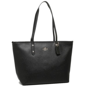 Coach Shoulder Leather F58846 Leather Tote in Black