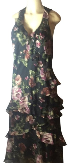 Item - Multicolor Maxi Tiered Long Cocktail Dress Size 12 (L)