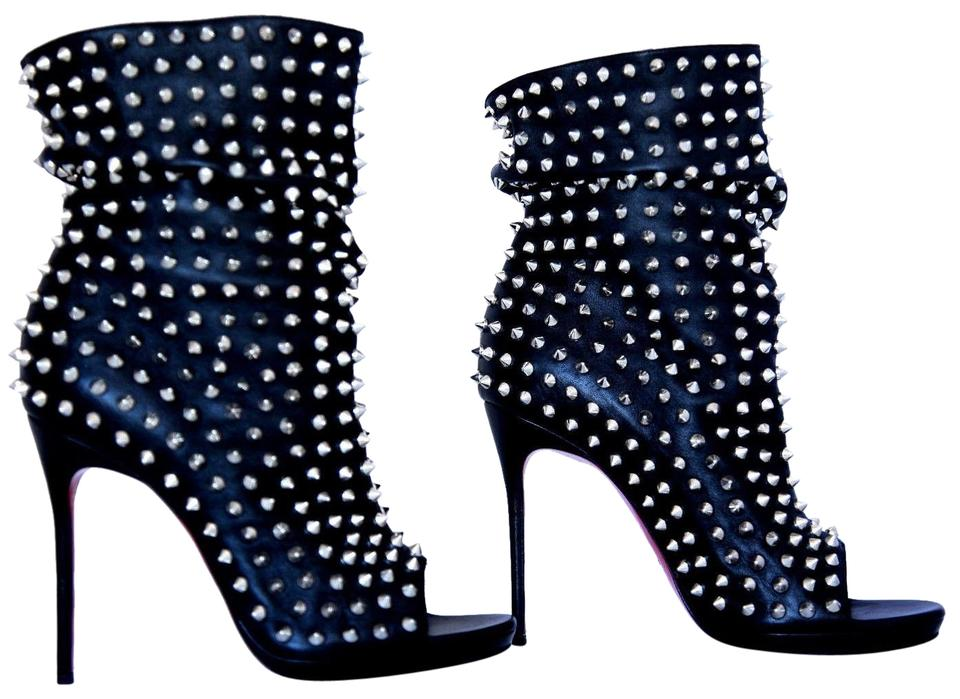 488429dfc0 Christian Louboutin Black 38it Guerilla Leather Spike Platform High Heel  Lady Fashion Toe Ankle Boots/Booties
