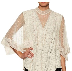Free People Top ivory lace