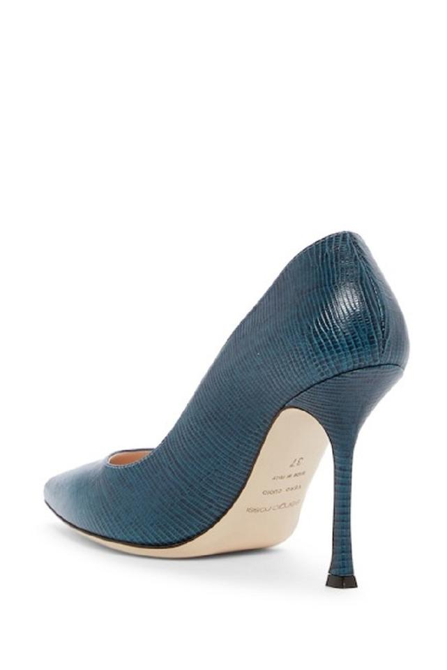newest a5767 9a09c Sergio Rossi Blue Scarpe Donna Lizard Embossed Leather Pumps Size EU 38  (Approx. US 8) Regular (M, B) 52% off retail