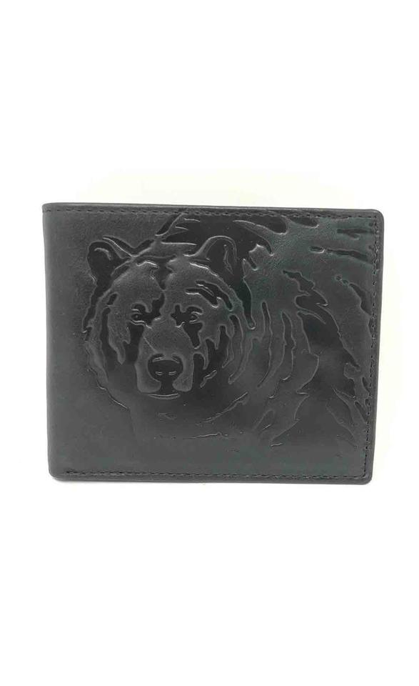 d0e134a626a908 Fossil Fossil Men's Weston Traveler Cowhide Leather Black Bear Bifold Wallet  Image 0 ...