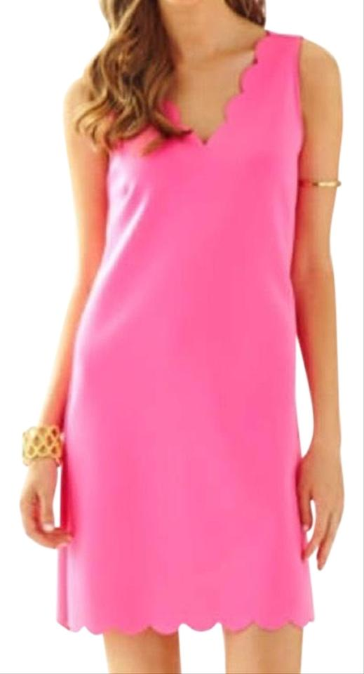 626432fec38cc Lilly Pulitzer Pink Scallop Short Casual Dress Size 6 (S) - Tradesy
