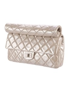 Chanel Light-weight Pale Gold Clutch