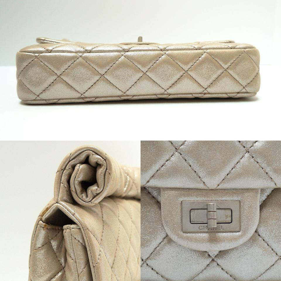 f886ad89b0deda Chanel 2.55 Reissue Clutch Special Edition Roll Top Pale Gold Washed Leather  Clutch - Tradesy