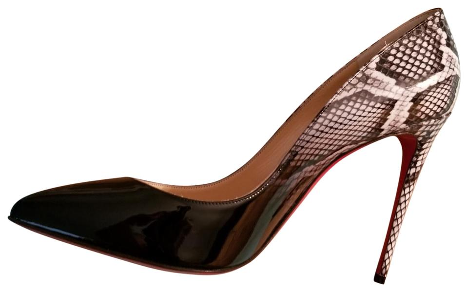 Degrade Black Black Patent Pumps 100 Christian Louboutin Folles White Rocci Pigalle White qRRz0C