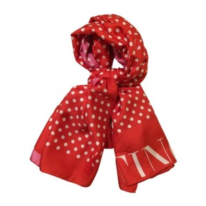 Valentino New Polka Dot Reversible Silk Shawl Scarf