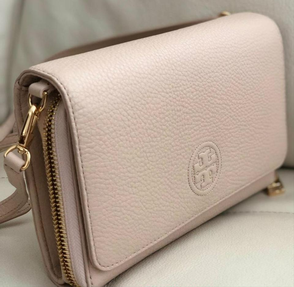 17c2a62123b7 Tory Burch Bombe Flat Wallet Pink Leather Cross Body Bag - Tradesy