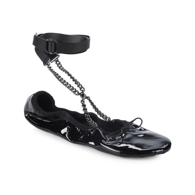 Item - Black Chained Patent Leather Ballet Flats Size EU 41 (Approx. US 11) Regular (M, B)