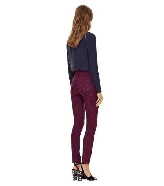 Item - Red Printed Skinny Jeans Size 28 (4, S)