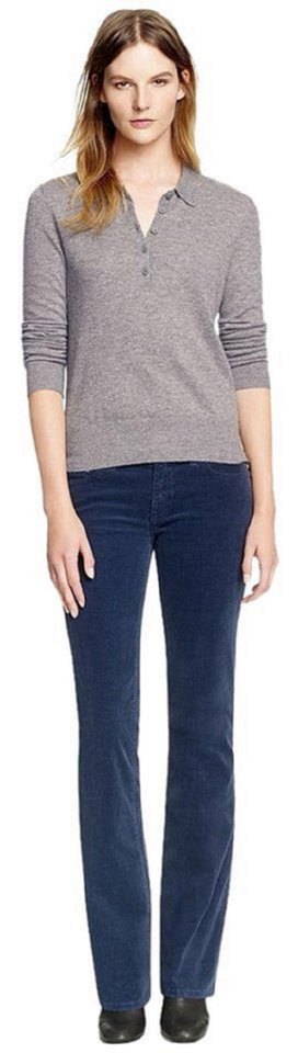 Classic Tory Corduroy Jeans Leg Tag New Burch Navy with Cut Boot wRBngf