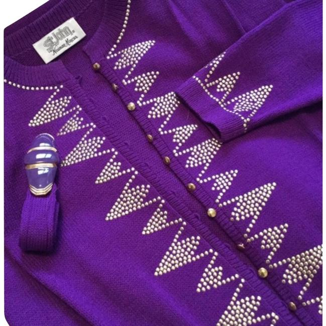 Item - Royal Purple and Gold. For Neiman Marcus Mid-length Night Out Dress Size 6 (S)