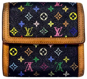 Louis Vuitton Louis Vuitton Multicolore Noir Black Bifold Compact Wallet