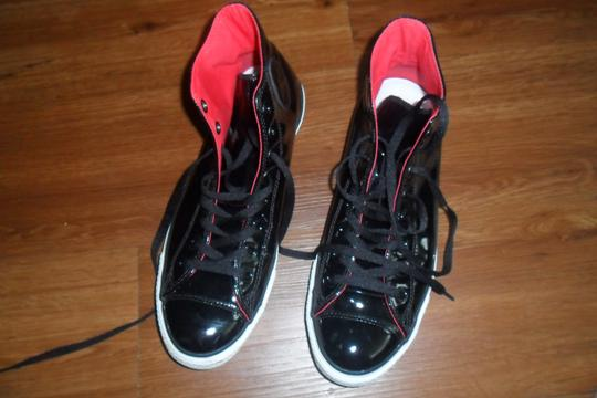 Converse Black Patent Leather Athletic