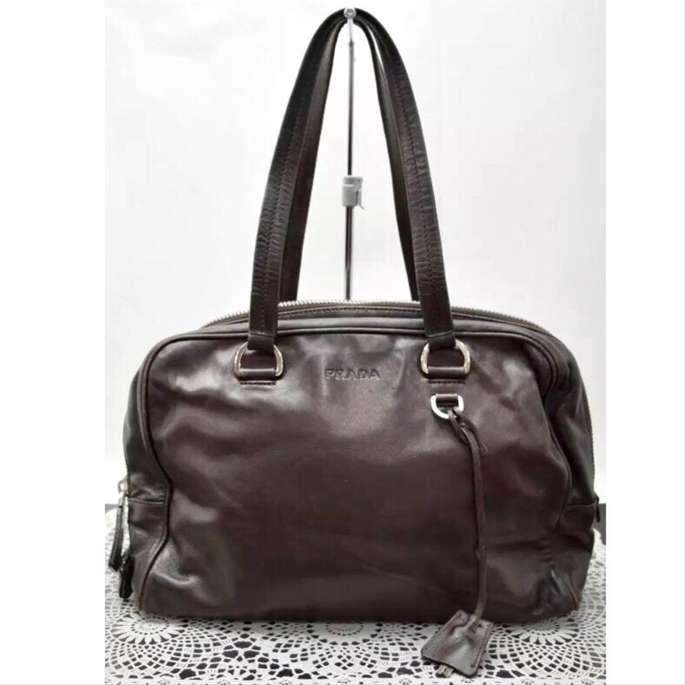 60892d3a92db3 Prada Top Handle Shoulder Brown Leather Satchel - Tradesy
