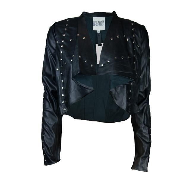 BB Dakota Studded Waterfall Leather Jacket