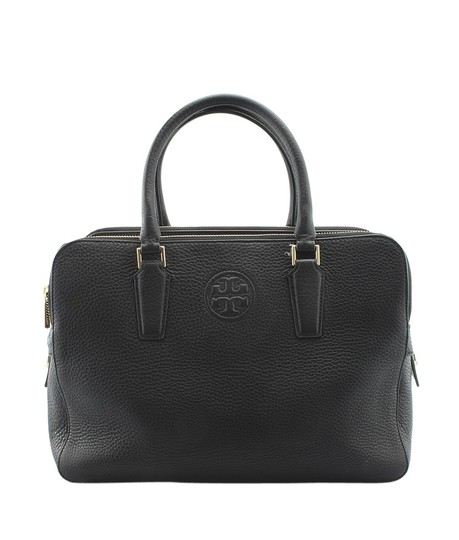 Preload https://img-static.tradesy.com/item/23679385/tory-burch-leather-and-leather-141420-black-leatherxleather-satchel-0-0-540-540.jpg