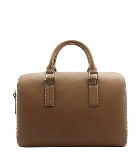 Tory Burch Leather Satchel in Brown