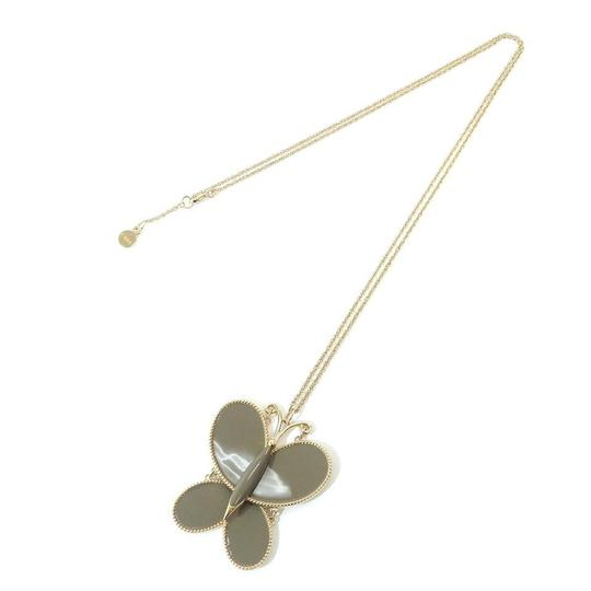 Preload https://img-static.tradesy.com/item/23679415/chloe-gold-toned-grey-butterfly-charm-chain-pendant-necklace-0-0-540-540.jpg