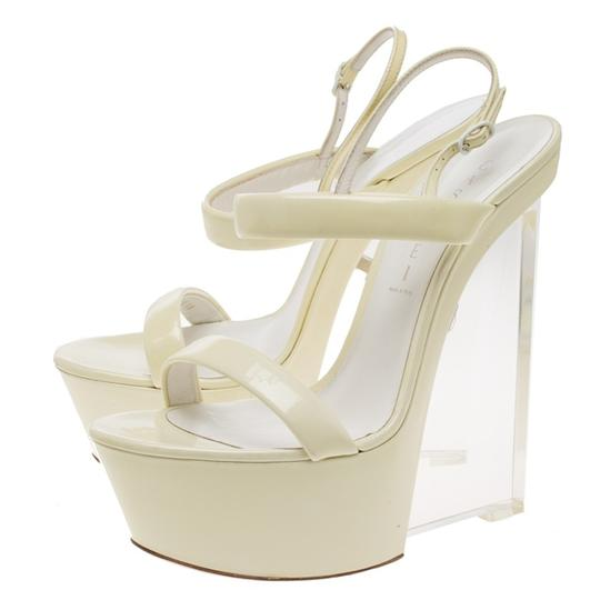 Casadei Cream Wedges