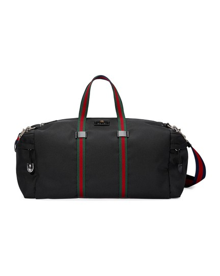 Preload https://img-static.tradesy.com/item/23679459/gucci-black-canvas-weekendtravel-bag-0-0-540-540.jpg