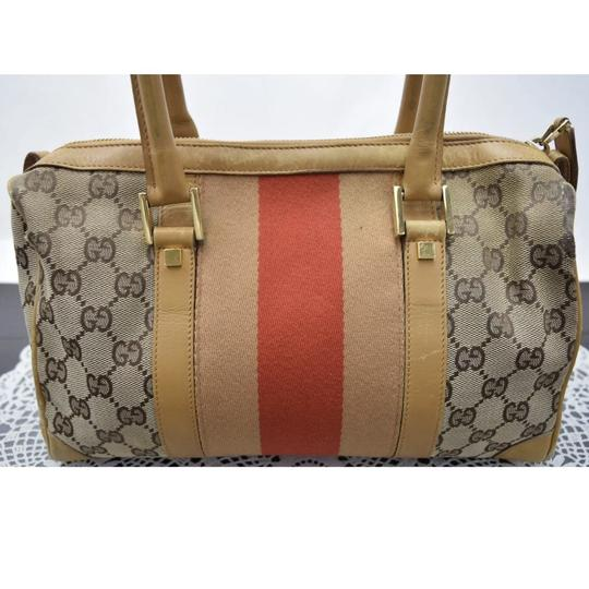 Gucci Satchel in Tan/Red