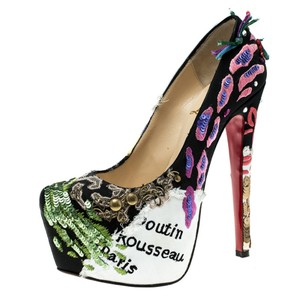 Christian Louboutin Limited Edition Crepe Black Pumps