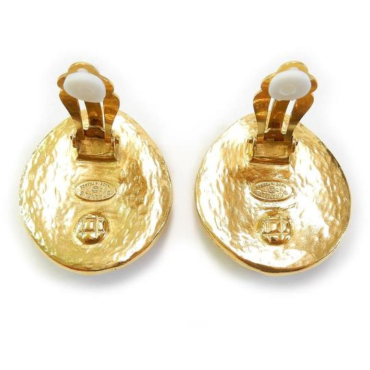 Chanel Chanel Rare Gold Plated CC Logos Vintage Clip Earrings