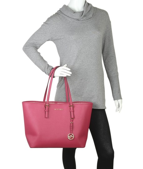 Michael Kors Leather Tote in Red