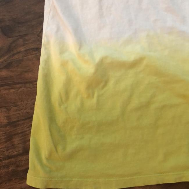 Ann Taylor LOFT Top White with Yellow/Green