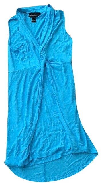 Preload https://img-static.tradesy.com/item/23679654/isabella-rodriguez-turquoise-wrap-front-short-casual-dress-size-6-s-0-1-650-650.jpg
